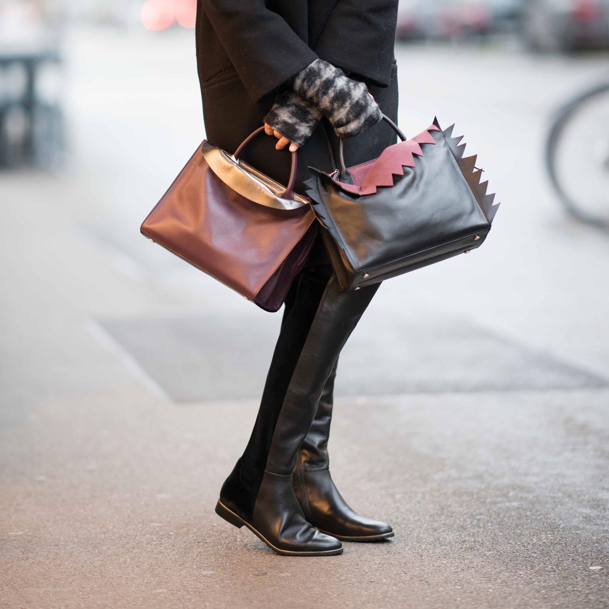 Handtaschen violette, schwarz