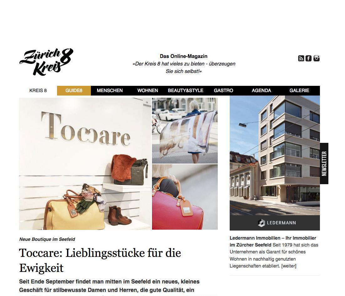 Zürich Kreis 8, Toccare, Artikel Oktober 2018