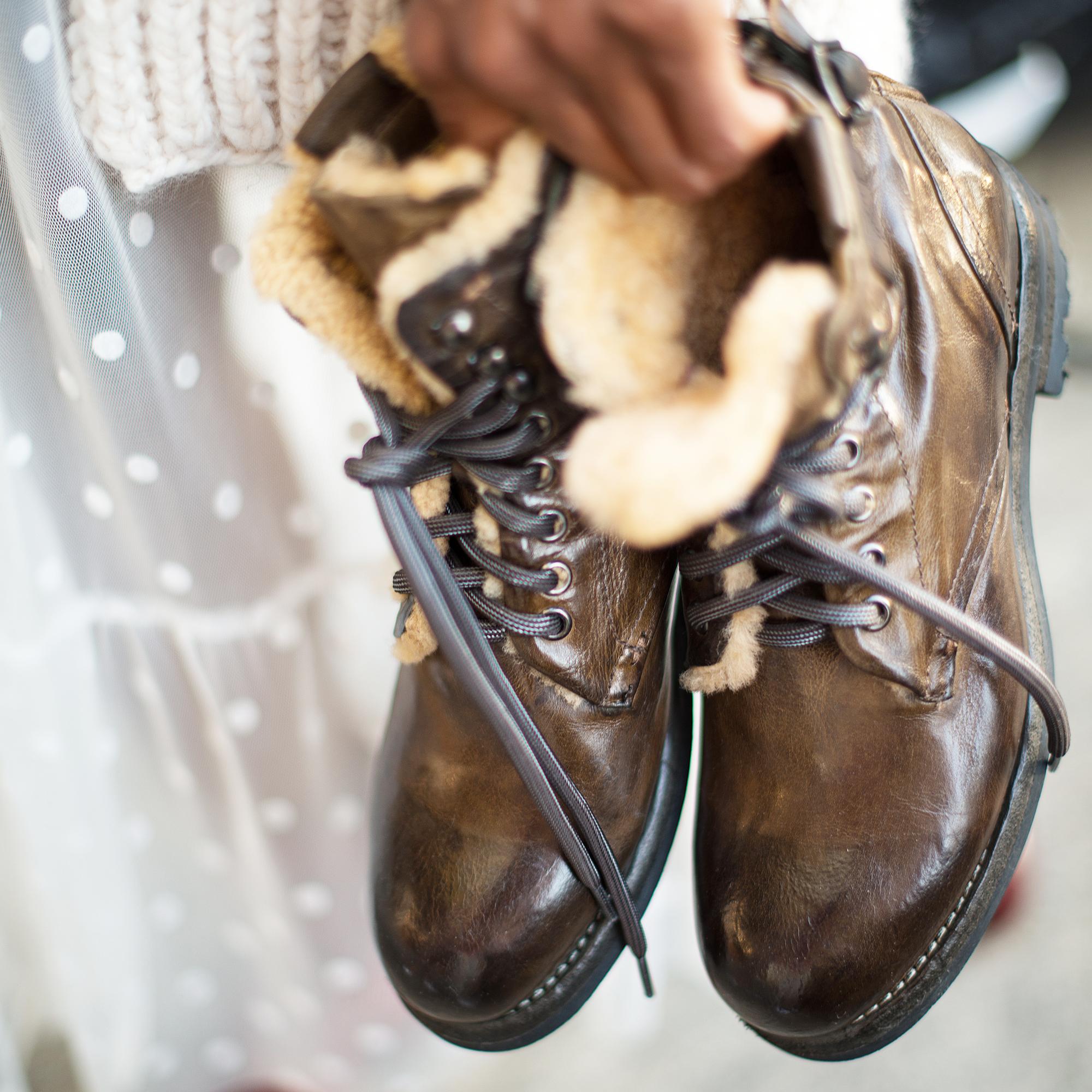 Schuhe mit Fell